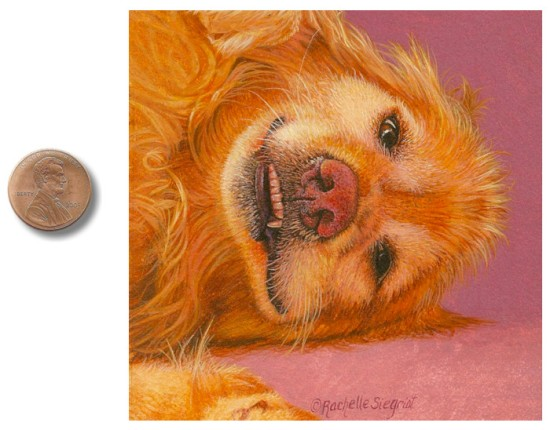 golden retriever dog painting by Rachelle_Siegrist