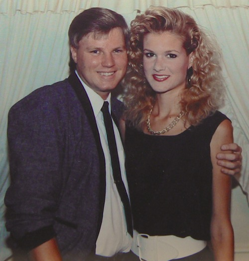Wes and Rachelle Siegrist back in 1989 dating