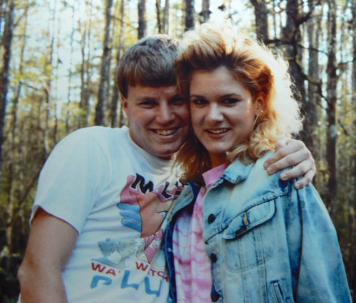 Wes and Rachelle Siegrist in 1989 at Highlands Hammock