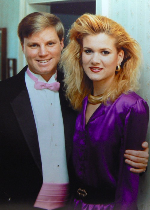 Wes and Rachelle Siegrist in February 1989
