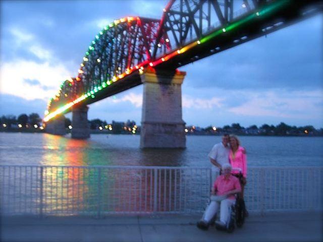 the BIg Four Bridge in Louisville KY