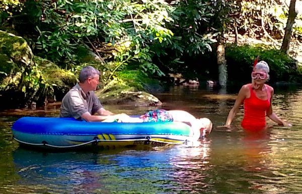 hillbilly snorkeling in townsend - 1