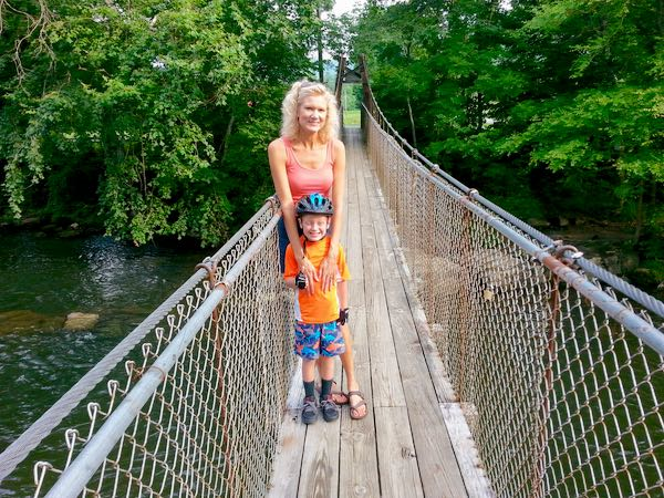 swinging bridge in townsend rachelle siegrists - 1