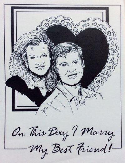 wes and rachelle siegrist wedding invitation
