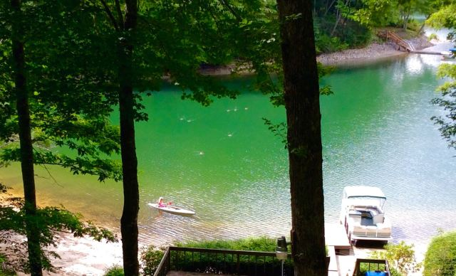 kayaking on lake glenville in summer - 1