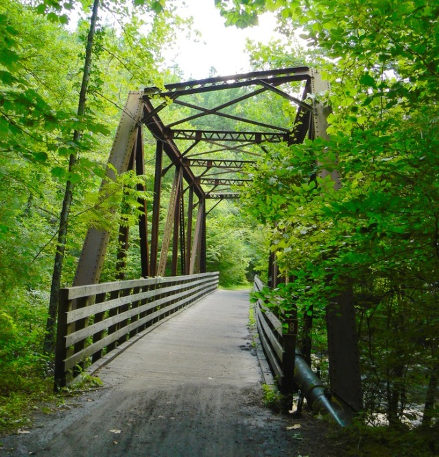 photo of the Virginia Creeper Trail bridge - 1
