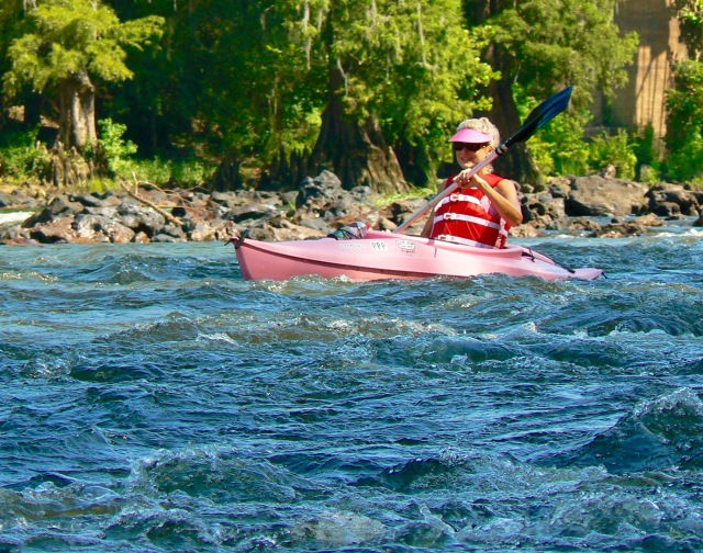 Rachelle Siegrist kayaking the Flint River in GA - 1