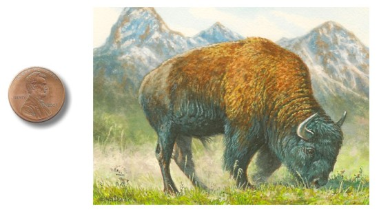 Bison painting by wes siegrist