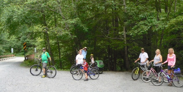 Riding the Virginia Creeper Trail