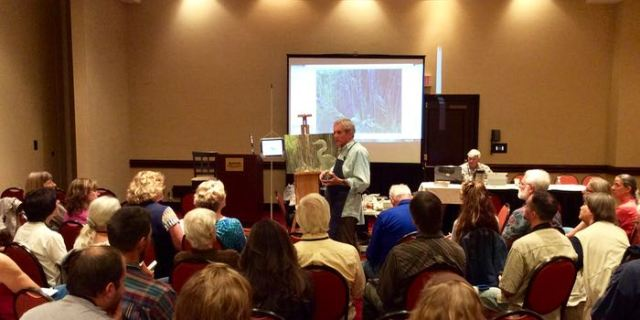 Bob Bateman demonstrating painting - 1