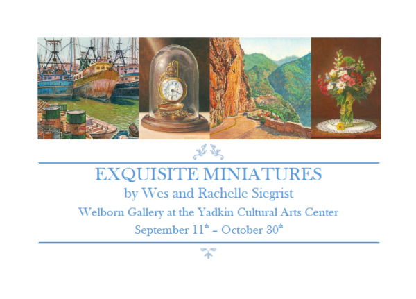 Exquisite Miniatures exhibition at the yadkin cultural arts center
