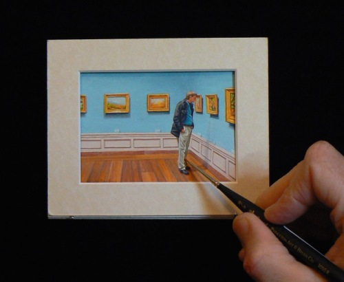 Inspired and in Awe, miniature painting by Wes Siegrist
