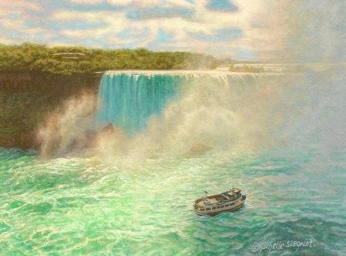 painting of niagara falls painting of horseshoe falls - 1