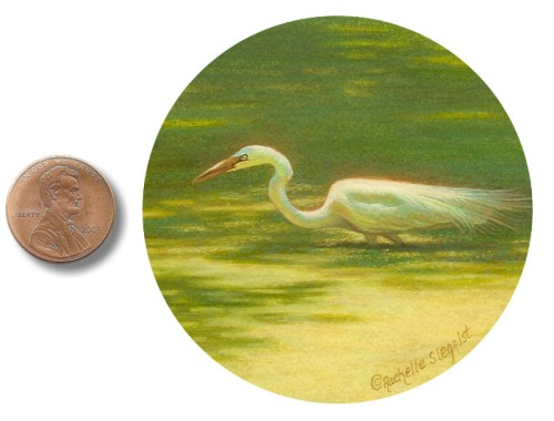 Great White Egret painting by_Rachelle_Siegrist