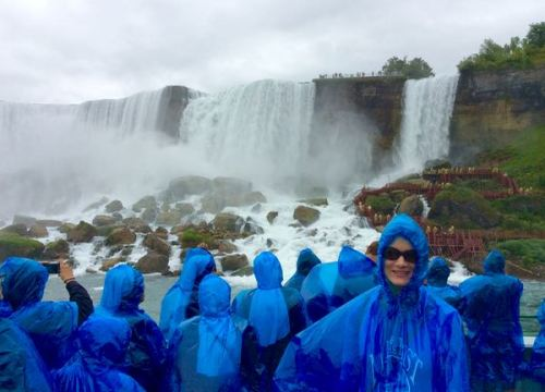 rachelle siegrist on maid of the mist niagara falls - 1