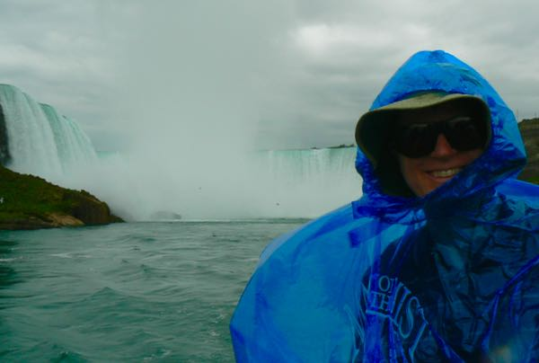 wes siegrist on maid of the mist at niagara falls - 1