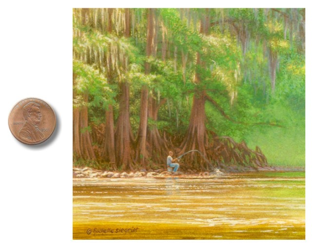 painting of fisherman on_the_Flint_River_by_Rachelle_Siegrist