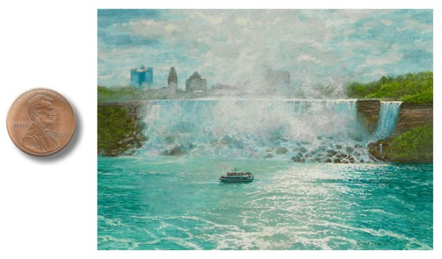 Niagara Falls painting miniature by_Wes_Siegrist