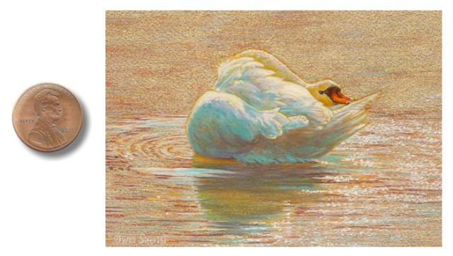 swan painting by wes siegrist
