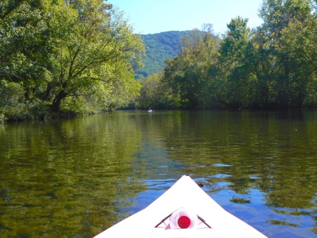 Kayaking Little River in fall 2015