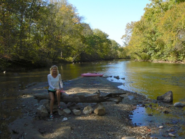 rachelle siegrist Kayaking Little River in fall
