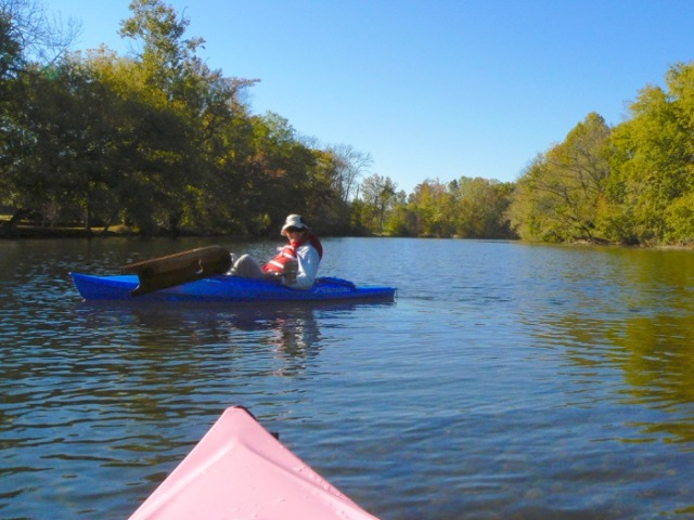 wes siegrist Kayaking Little River in fall