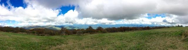 panorama photo on huckleberry bald - 1