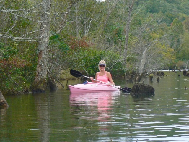 rachelle siegrist kayaking Tennessee river - 1