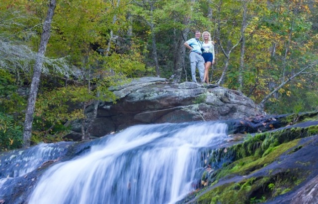 Wes and Rachelle siegrist by bald river falls - 1 (1)