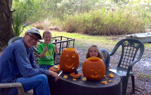 wes siegrist carving pumpkins