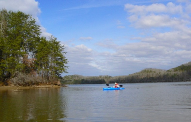 Kayaking near chilhowee lake wes siegrist - 1
