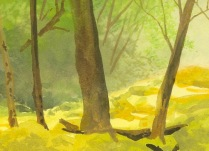 step by step landscape painting of the smoky mountains by wes siegrist - 3