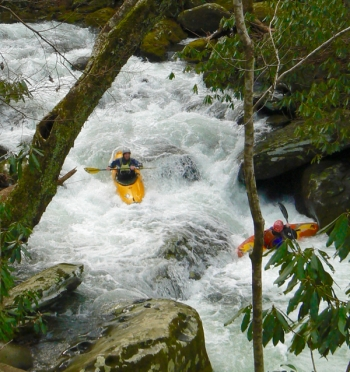 kayaking thunderhead prong in tremont smokies - 3