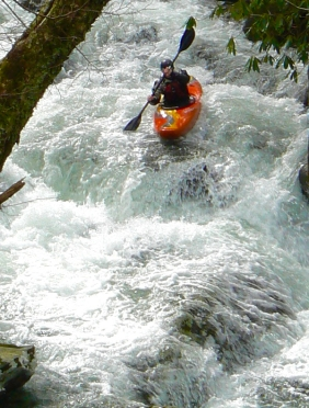 kayaking thunderhead prong in tremont smokies - 4