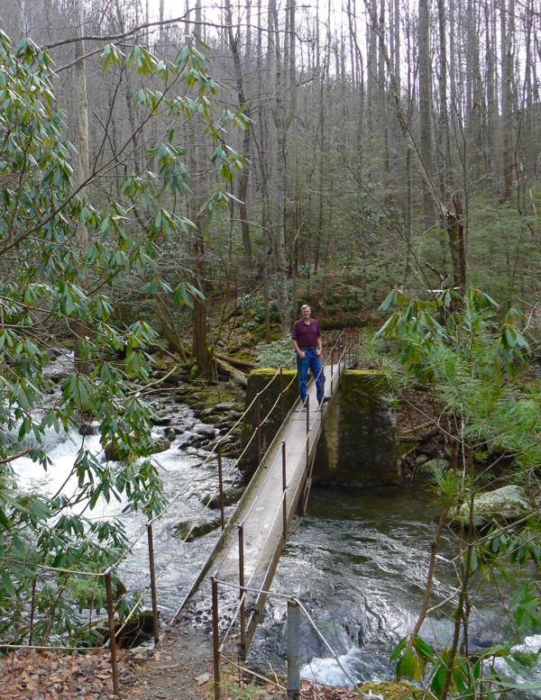 wes siegrist on footbridge in smoky mountains national park - 1.jpg
