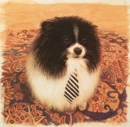 Pomeranian painting #dogpainting by painting by rachelle Siegrist  - 1