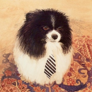 Pomeranian painting commission a dog painting3