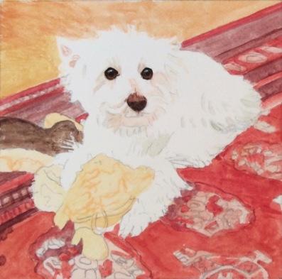west highland terrier dog painting in progress.jpg