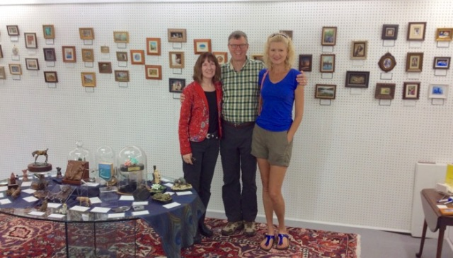 wes and rachelle siegrist and melanie smith at seaside art gallery