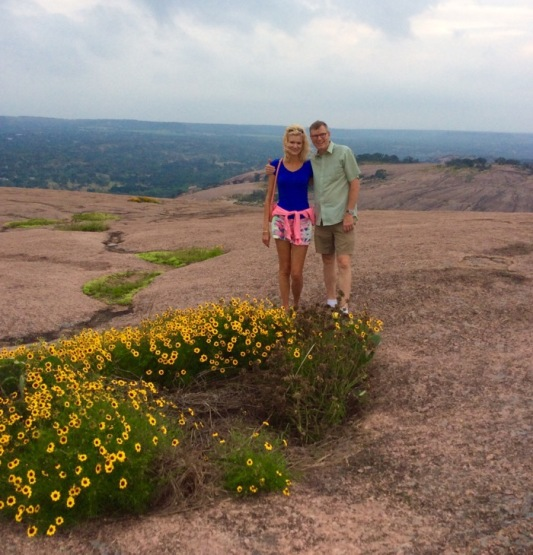 wes and rachelle seirgist on enchanted rock.jpg