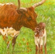 Rachelle Siegrist's cow painting