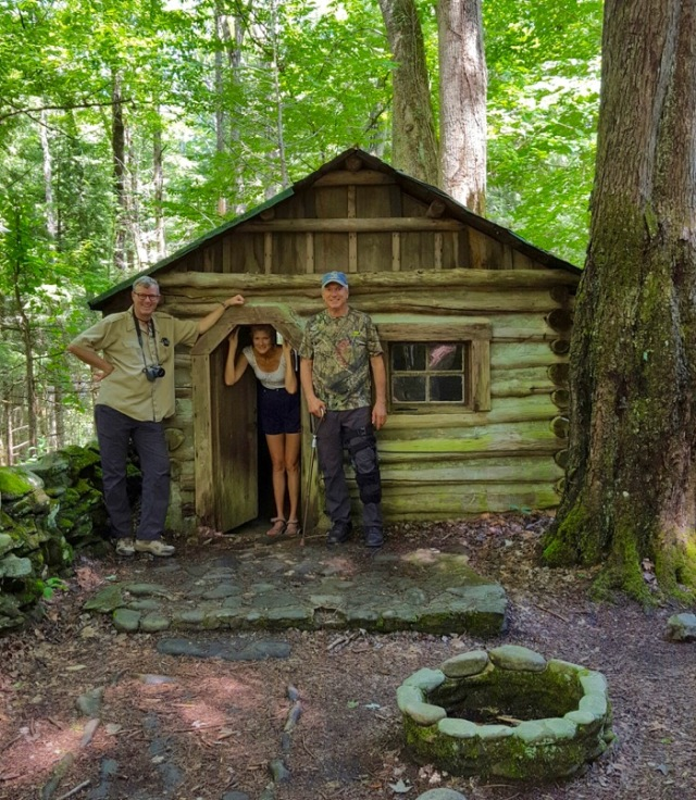 Wes,Rachelle and Larry at Iams Cabin.jpg