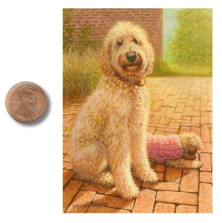 The_Babysitter labradoddle dog painting_by_Rachelle_Siegrist.jpg