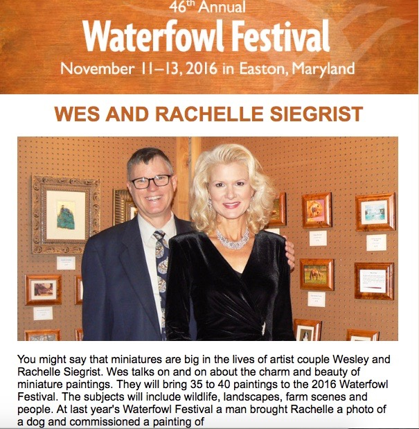 wes and rachelle siegrist 46th annual waterfowl festival newsletter.jpg