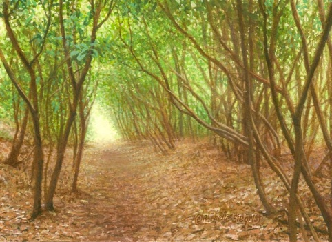 An Enchanted Path landscape painting.jpg
