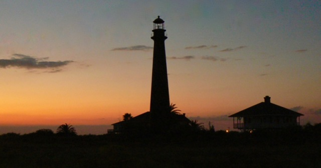 sunset by Bolivar Point Lighthouse rachelle siegrist.jpg