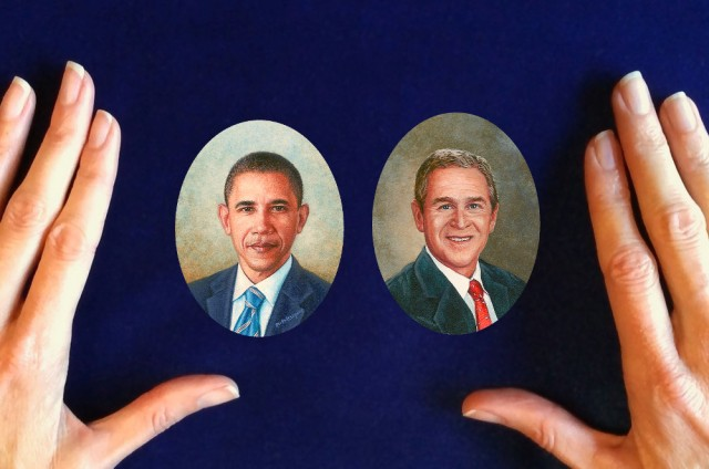 presidential portrait miniatures by wes and rachelle siegrist artofwildlife.com