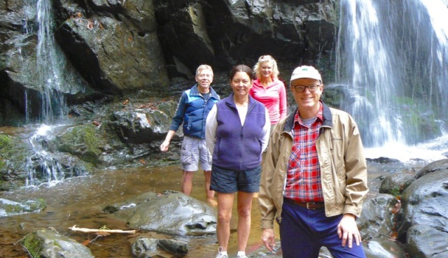 rachelle and wes siegrist with sharon and tom ranz at spruce flats falls.jpg