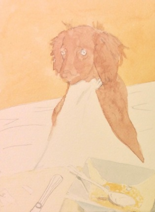 Boykin Spaniel Painting, LBD painting, swamp poodle, commission a pet portrait