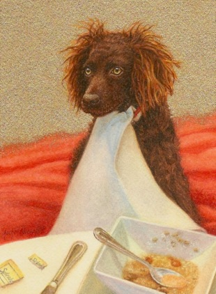 Boykin Spaniel painting, dog painting, commission a dog painting